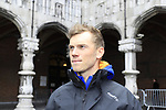 Lars Boom (NED) Rabobank Cycling Team at the team presentations at the Palais Provincial in Liege city centre before the 98th edition of Liege-Bastogne-Liege 2012. 21st April 2012.  <br /> (Photo by Eoin Clarke/NEWSFILE).