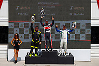 Race 1, GT3 USA, Gold Podium, #5 TPC Racing, Porsche 991 / 2016, GT3G: Rob Ferriol, #27 NGT Motorsport, Porsche 991 / 2017, GT3G: Sebastian Carazo, #18 ACI Motorsports, Porsche 991 / 2014, GT3G: Richard Edge