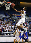 Bishop Gorman's Chuck O'Bannon shoots over Reno defender Michael Heydon during the NIAA Division I state basketball tournament in Reno, Nev. on Thursday, Feb. 25, 2016. Gorman won 70-39. Cathleen Allison/Las Vegas Review-Journal