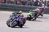 MAVERICK VINALES - SPANISH - MOVISTAR YAMAHA MotoGP - YAMAHA<br /> VALENTINO ROSSI - ITALIAN - MOVISTAR YAMAHA MotoGP - YAMAHA<br /> JOHANN ZARCO - FRENCH - MONSTER YAMAHA TECH 3 - YAMAHA<br /> Austin 23-4-2018 Moto Gp USA <br /> Grand Prix of The Americas<br /> Foto Vincent Guignet / Panoramic / Insidefoto