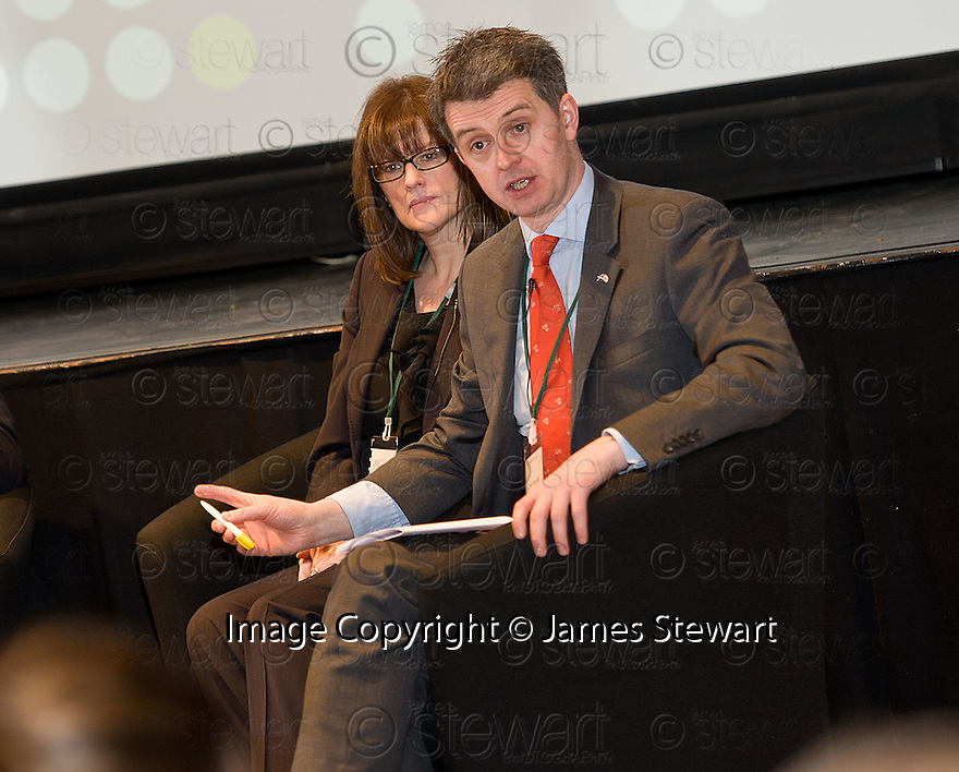 John Rendall, HSBC CEO for Scotland during the Q&A Session at the Falkirk Business Panel Update Event 2012, Falkirk Town Hall...