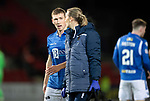 St Johnstone v Hearts…30.10.19   McDiarmid Park   SPFL<br />David Wotherspoon leaves the pitch with physio Mel Stewart<br />Picture by Graeme Hart.<br />Copyright Perthshire Picture Agency<br />Tel: 01738 623350  Mobile: 07990 594431