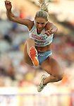 31.07.2010, Olympic Stadium, Barcelona, ESP, European Athletics Championships Barcelona 2010, im Bild Snezana Rodic of Slovenia competes during the women's triple jump final, EXPA Pictures © 2010, PhotoCredit: EXPA/ Sportida/ Vid Ponikvar +++++ ATTENTION - OUT OF SLOVENIA +++++