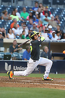 Ben Baird (7) of the West team bats during the 2015 Perfect Game All-American Classic at Petco Park on August 16, 2015 in San Diego, California. The East squad defeated the West, 3-1. (Larry Goren/Four Seam Images)