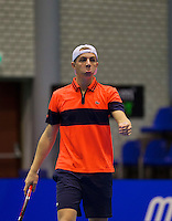 Rotterdam,Netherlands, December 15, 2015,  Topsport Centrum, Lotto NK Tennis, Tallon Griekspoor (NED)<br /> Photo: Tennisimages/Henk Koster