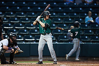 Eli Wilson (29) of the Greensboro Grasshoppers at bat against the Winston-Salem Dash at Truist Stadium on August 11, 2021 in Winston-Salem, North Carolina. (Brian Westerholt/Four Seam Images)