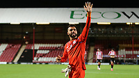 Brentford goalkeeper, David Raya celebrates their victory at the final whistle during Brentford vs Swansea City, Sky Bet EFL Championship Play-Off Semi-Final 2nd Leg Football at Griffin Park on 29th July 2020