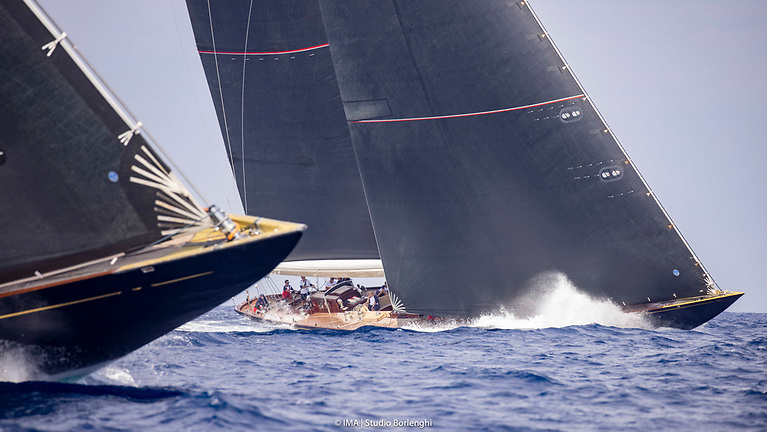 Racing for the J Class yachts at Les Voiles de Saint Tropez is under IRC handicap