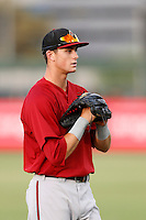 Dane McFarland #35 of the AZL Diamondbacks during a game against the AZL Angels at Tempe Diablo Stadium on July 14, 2013 in Tempe, Arizona. AZL Angels defeated the AZL Diamondbacks, 5-3. (Larry Goren/Four Seam Images)