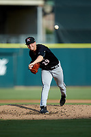 Kannapolis Intimidators starting pitcher Taylor Varnell (29) delivers a pitch to the plate against the Augusta GreenJackets at SRG Park on July 6, 2019 in North Augusta, South Carolina. The Intimidators defeated the GreenJackets 9-5. (Brian Westerholt/Four Seam Images)