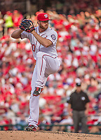 6 April 2015: Washington Nationals pitcher Aaron Barrett on the mound in the 9th inning of the Home Opening Game against the New York Mets at Nationals Park in Washington, DC. The Mets rallied to defeat the Nationals 3-1 in their first meeting of the 2015 MLB season. Mandatory Credit: Ed Wolfstein Photo *** RAW (NEF) Image File Available ***