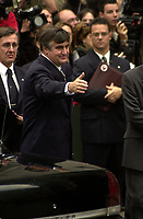 Montreal, 2000-10-03 <br /> Quebec Premier, the Honorable Lucien Bouchard<br /> was attending the funeral of former Canadian Prime Minister, the Honorable Pierre Eliott Trudeau  held at the Notre-Dame Basilica in Montreal (QuÈbec, Canada) on October 10th, 2000.