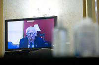 United States Senator Bernie Sanders (Independent of Vermont) speaks via teleconference as the United States Senate Committee on the Budget considers the nomination of Director, Office of Management and Budget (OMB) Russell Vought to be Director of Office of Management and Budget on Capitol Hill in Washington D.C., U.S., on Wednesday, June 3, 2020.  Credit: Stefani Reynolds / CNP/AdMedia