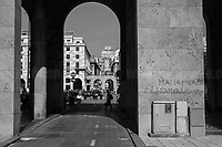 """Viale Delle Brigate Partigiane.<br /> <br /> The photos of this story are presented appositely in Black And White to show to the audience """"the Places"""" where the majority of - the already mentioned (see above) - """"suspensions of fundamental rights […] such as freedom of expression, freedom of movement, the right to physical integrity"""" (2.) happened, including Piazza Alimonda, Via Tolemaide, Corso Torino, Via Caffa, Viale Delle Brigate Partigiane, Corso Guglielmo Marconi, Scuola Diaz (the Diaz School). Unfortunately, the Bolzaneto's barracks couldn't be documented due to the distance from Genoa's city centre. This police station was used as a temporary prison for the people taken away from the Diaz School, where physical and psychological tortures and humiliations where perpetrated by officers, including managers and supervisors.<br /> <br /> All Clickable Links:<br /> <br /> Footnotes, Links, Sources:<br /> <br /> 1. http://bit.do/fRvdg<br /> 2. http://bit.do/fRvdi<br /> 3. http://bit.do/fRvdj<br /> 4. http://bit.do/fRvdn<br /> 5. http://bit.do/fRvdo<br /> 6. 12.10.18 - Sulla Mia Pelle: Stefano Cucchi's Film Screening At CSOA La Strada http://bit.do/fRvdr<br /> 7. http://bit.do/fRvdt & http://bit.do/fRvdu<br /> 8. http://bit.do/fRvdv & http://bit.do/fRvdw & http://bit.do/fRvdx<br /> 9. http://bit.do/fRvdz<br /> 10. http://bit.do/fRvdA<br /> 11. http://bit.do/fRvdB<br /> http://www.veritagiustizia.it/docs/G8_2021_prog_ITA.pdf http://www.veritagiustizia.it/documenti.php & http://www.veritagiustizia.it/doc_eng/<br /> https://www.carlogiuliani.it<br /> https://en.wikipedia.org/wiki/Death_of_Carlo_Giuliani<br /> The bloody battle of Genoa by Nick Davies (Source, The Guardian, 2008): https://www.theguardian.com/world/2008/jul/17/italy.g8"""