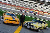 28-31 January, 2010, Daytona Beach, Florida  USA.Parnelli Jones with Ford Mustang race cars new and old..©F. Peirce Williams 2010 USA.