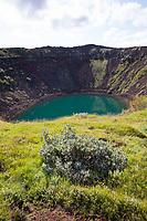 Kerið, Kerio, Vulkan, Vulkankrater, Kratersee, Island. Kerith, Kerid, volcanic crater lake, Iceland