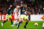 Nederland, Amsterdam, 5 november 2015<br /> Europa League<br /> Seizoen 2015-2016<br /> Ajax-Fenerbahce (0-0)<br /> Lasse Schone van Ajax en Robin van Persie van Fenerbahce strijden om de bal