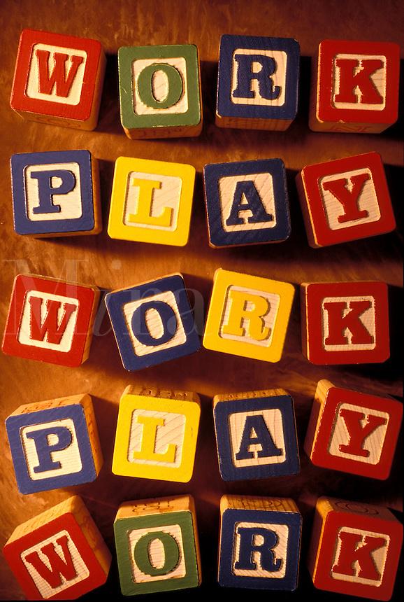 Children's blocks - work play.