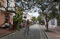 Espanola Way in South Beach has restaurants and a neighborhood feel in another country.