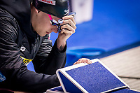 Caeleb Dressel of USA in act at the men's 50m freestyle final during 18th Fina World Championships Gwangju 2019 at Nambu University Municipal Aquatics Centre, Gwangju, on 27  July 2019, Korea.  Photo by : Ike Li / Prezz Images