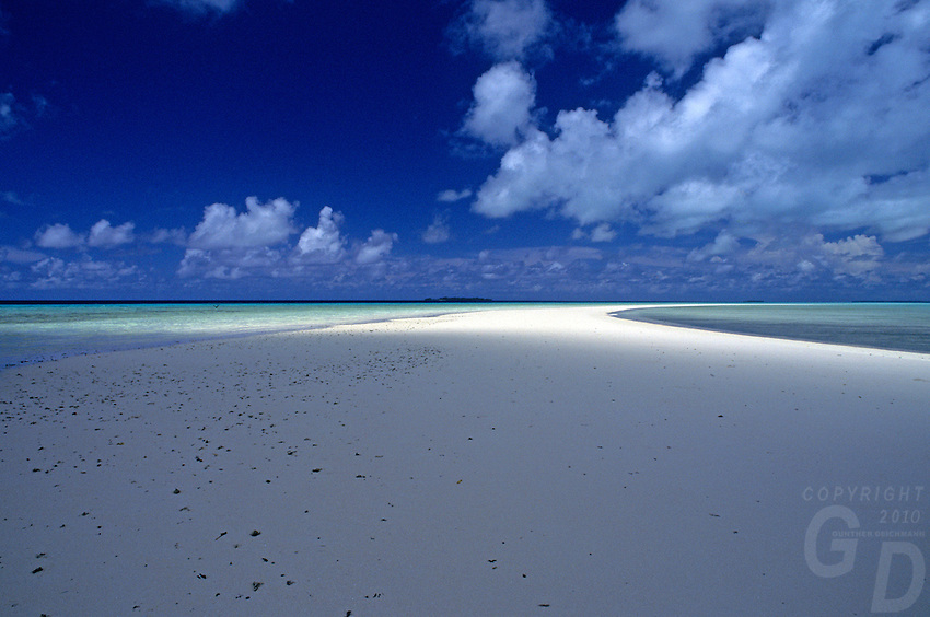 moody light on one of Palau's Beaches, Micronesia,