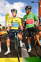5th June 2021; La Plagne, Tarentaise, France;  LUTSENKO Alexey (KAZ) of ASTANA - PREMIER TECH and COLBRELLI Sonny (ITA) of BAHRAIN VICTORIOUS  during stage 7 of the 73th edition of the 2021 Criterium du Dauphine Libere cycling race, a stage of 171km with start in Saint-Martin-Le-Vinoux and finish in La Plagne