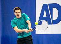 Amstelveen, Netherlands, 14  December, 2020, National Tennis Center, NTC, NK Indoor, National  Indoor Tennis Championships, Qualifying:  Quin Verstegen (NED)  <br /> Photo: Henk Koster/tennisimages.com