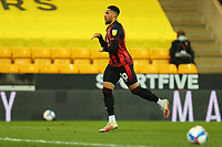 17th April 2021; Carrow Road, Norwich, Norfolk, England, English Football League Championship Football, Norwich versus Bournemouth;  Arnaut Danjuma of Bournemouth celebrates his goal for 1-2 in the 57th minute