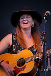 Singer/songwriter Stephanie Davis sings at the Montana Folk Festival