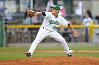 Paul Fry #26 of the Clinton LumberKings pitches  against the Clinton West Michigan Whitecaps at Ashford University Field on July  25, 2014 in Clinton, Iowa. The Whitecaps won 9-0.   (Dennis Hubbard/Four Seam Images)