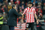 Athletic de Bilbao's coach Ernesto Valverde and Raul Garcia during Spanish Kings Cup match. January 05,2017. (ALTERPHOTOS/Acero)