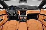 Stock photo of straight dashboard view of 2019 Maserati Gran-Cabrio Sport 2 Door Convertible Dashboard