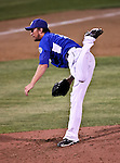 Fort Worth Cats Pitcher Cody White (14) in action during the American Association of Independant Professional Baseball game between the Amarillo Sox and the Fort Worth Cats at the historic LaGrave Baseball Field in Fort Worth, Tx. Fort Worth defeats Amarillo 3 to 0......