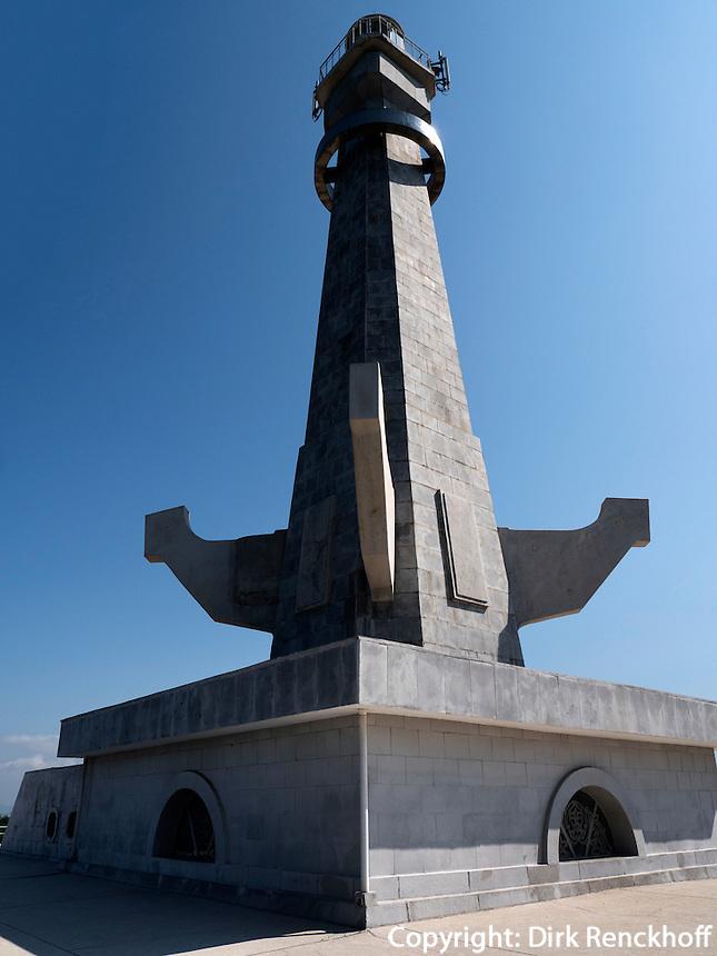 Leuchtturm auf der Insel Pi  bei Nampo, Nordkorea, Asien<br /> Leutturm on Pi Island near Nampo, North Korea, Asia