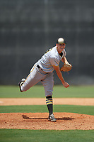 GCL Pirates relief pitcher Vince Deyzel (23) delivers a pitch during a game against the GCL Yankees West on July 25, 2017 at Pirate City in Bradenton, Florida.  GCL Yankees West defeated the GCL Pirates 11-3.  (Mike Janes/Four Seam Images)
