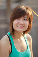 August 2012 - Montreal (Qc) CANADA - MODEL RELEASE photo of a 19 year old asian (Vietnamese) female teen <br /> smiling