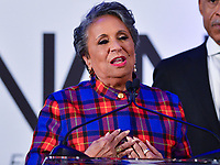 Washington, DC - January 20, 2020: Cathy Hughes, entrepreneur and founder of Radio One, speaks during a breakfast hosted by the National Action Network honoring the legacy of Dr. Martin Luther King, Jr on MLK Day January 20, 2020 at the Mayflower Hotel in Washington, DC.  (Photo by Don Baxter/Media Images International)
