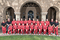 STANFORD, CA - October 21, 2015: The Stanford Cardinal 2015-2016 Men\'s Gymnastics.