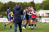 TRY - Rob Stevensen of London Scottish scores during the Greene King IPA Championship match between London Scottish Football Club and Richmond at Richmond Athletic Ground, Richmond, United Kingdom on 27 April 2019. Photo by Carlton Myrie.