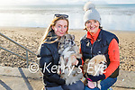 Kate O'Connell and Ellen O'Mahoney taking their dogs Munster and Tickles for a walk on Ballyheigue beach on New Years Day.