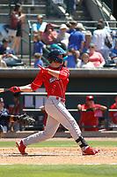 Lakewood BlueClaws outfielder Cord Sandberg (32) at bat during a game against the Charleston RiverDogs on May 3, 2017 at Joseph P. Riley Ballpark in Charleston, South Carolina. Lakewood defeated Charleston 10-6. (Robert Gurganus/Four Seam Images)