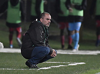 BOGOTA - COLOMBIA, 12-03-2020: Jaime de la Pava técnico de Cortuluá gesticula durante el partido entre Tigres F.C. y Cortuluá como parte de la Liga Águila II 2019 jugado en el estadio Metropolitano de Techo de la ciudad de Bogotá. / Jaime de la Pava coach of Cortulua gestures during match between Tigres F.C. and Cortulua for the date 7 as part of BetPlay DIMAYOR Tournament I 2020 played at Metropolitano de Techo stadium in Bogota city. Photo: VizzorImage / Gabriel Aponte / Staff