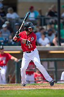 Nadir Ljatifi (37) of the Billings Mustangs at bat against the Missoula Osprey at Dehler Park on August 20, 2017 in Billings, Montana.  The Osprey defeated the Mustangs 6-4.  (Brian Westerholt/Four Seam Images)