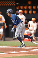 UC Irvine Anteaters third baseman Jonathan Munoz (15) swings at a pitch during game one of a double header against the Tennessee Volunteers at Lindsey Nelson Stadium on March 12, 2016 in Knoxville, Tennessee. The Volunteers defeated the Anteaters 14-4. (Tony Farlow/Four Seam Images)