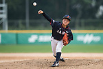 #19 Himeno Mayu of Japan delivers during the BFA Women's Baseball Asian Cup match between South Korea and Japan at Sai Tso Wan Recreation Ground on September 2, 2017 in Hong Kong. Photo by Marcio Rodrigo Machado / Power Sport Images