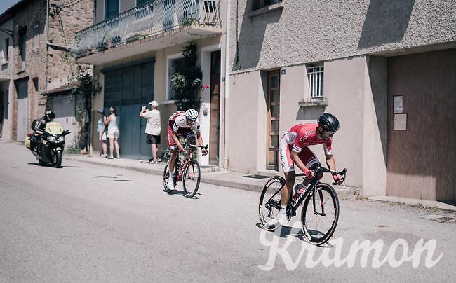 Nacer Bouhanni (FRA/Cofidis) & Nils Politt (DEU/Katusha-Alpecin)<br /> <br /> 104th Tour de France 2017<br /> Stage 16 - Le Puy-en-Velay › Romans-sur-Isère (165km)