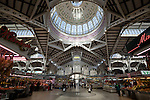 Spain, Costa Blanca, Valencia: Interior of the Mercato Centrale, built in 1914 | Spanien, Costa Blanca, Valencia: Markthalle Mercato Centrale, erbaut 1914
