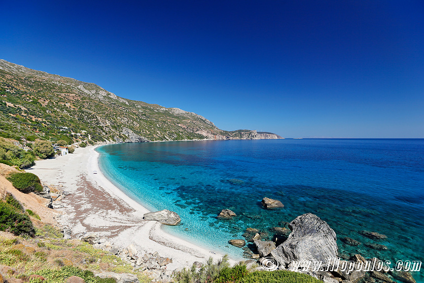 The beach Korasida in Evia island, Greece