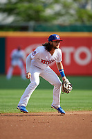Buffalo Bisons shortstop Bo Bichette (13) during an International League game against the Norfolk Tides on June 21, 2019 at Sahlen Field in Buffalo, New York.  Buffalo defeated Norfolk 2-1, the first game of a doubleheader.  (Mike Janes/Four Seam Images)