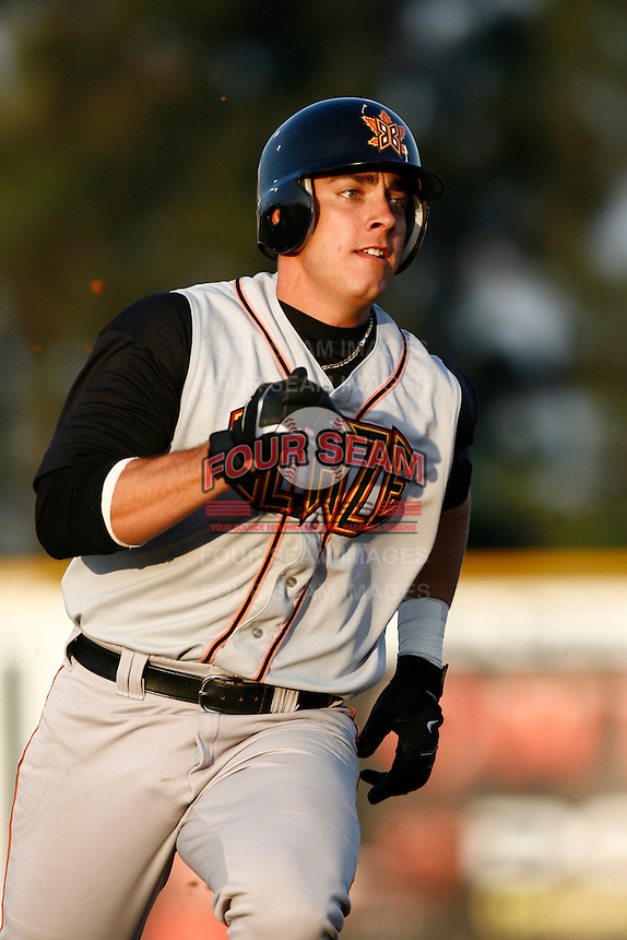 Travis Teagarden of the Bakersfield Blaze during a California League baseball game on May 26, 2007 at The Epicenter in Rancho Cucamonga, California. (Larry Goren/Four Seam Images)